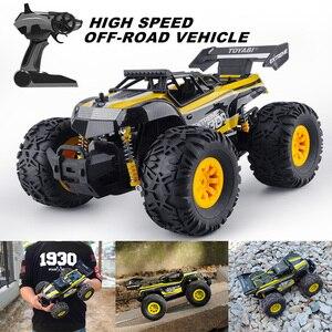 Image 4 - Carro rc 2.4g 1/18 monster truck carro de controle remoto brinquedos controlador modelo fora de estrada veículo caminhão 15 km/h controle de rádio carro de brinquedo carros