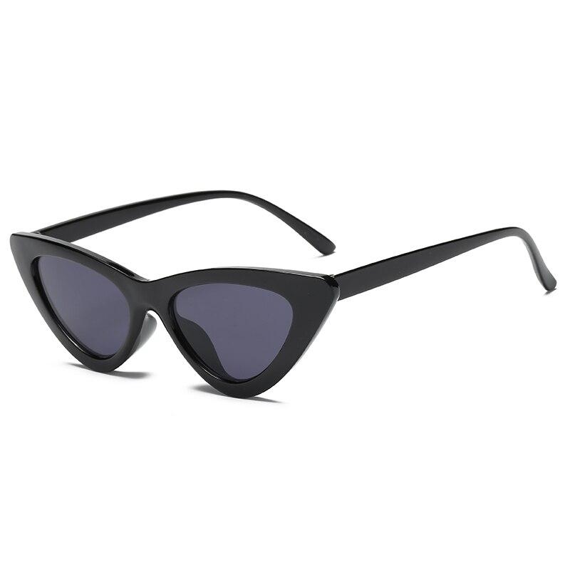 Retro Triangle Cat's Eye Sunglasses For Women's Fashion Plastic Frame Black Adult Glasses Prom Trend Eyeglasses