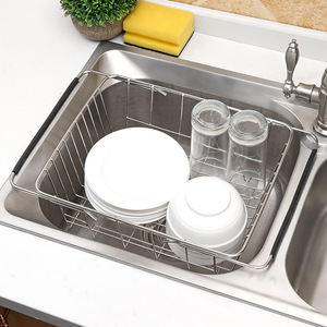 Image 5 - ステンレス鋼野菜ラック調整可能なシンクフルーツ収納ホルダー皿ホーム主催乾燥キッチン機能バスケット