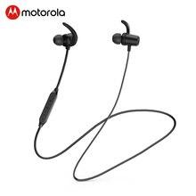 Motorola wiszące szyi Bluetooth 5.0 elastyczne słuchawki magnetyczne sportowe słuchawki bezprzewodowe potężny bas z 8H czas odtwarzania