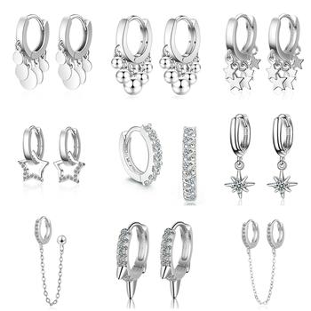 2020 New Lovely Earring For Women Girls Bead Star Tassel Earrings Gold Silver Color Small Huggie Hoop Earring Oorbellen Gifts цена 2017
