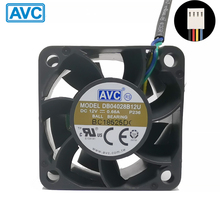 For AVC DB04028B12U  fan 4cm 4028 40x40x28mm 12V 0.66A Dual Ball Bearing 4-wire 4pin PWM Server Power Airflow COOLING REVOLUTION