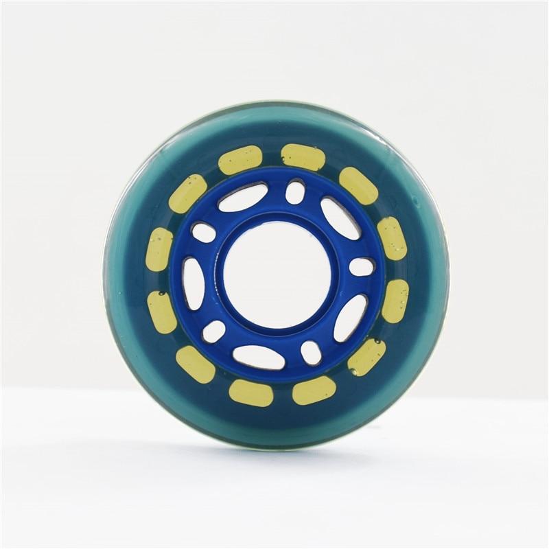 [64 70 72mm] Blue 82A Kid's Wheel,Black Translucent Children Wheels For Inline Skate Roller Skates Scooter, 24mm Width 8 Pcs/set
