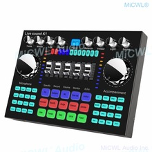 MiCWL K1 High Quality Digital Sound Card Audio Mixer for Computer Laptop Live Condenser Dynamic Microphone Mobile Phone Video
