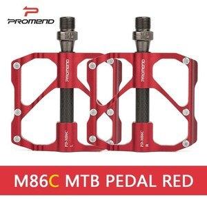 Image 2 - Promend mtbペダルクイックリリースロードバイク自転車ペダル抗スリップ超軽量マウンテンバイクのペダル炭素繊維3ベアリングpedale vtt