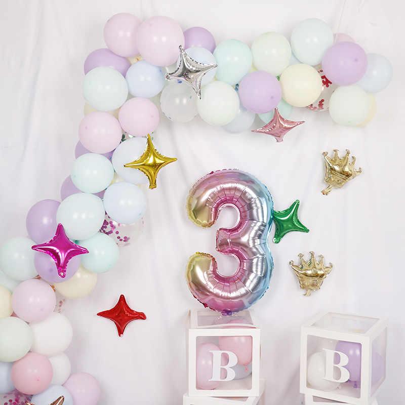 6 uds elsa Frozen princesa globos de helio de 32 pulgadas número bebé ducha chica de globos Decoraciones para fiesta de cumpleaños juguetes de los niños