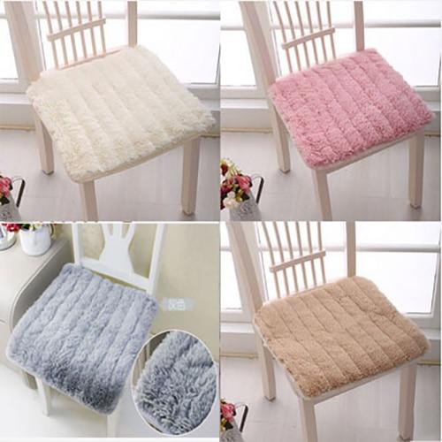 Almofada decorativa da cadeira do inverno do coxim 45x45cm do assento do luxuoso curto antiderrapante com atadura evita o frio