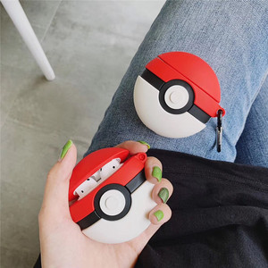 Air pods 2 Cartoon Anime Cute Funny Poke Ball earphone Cover For Apple Wireless Bluetooth Headset Airpods Silicone Cases Funda(China)