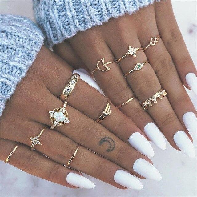 Σετ Δαχτυλίδια Χρυσό-Ασημί Μεταλλικά if me 30 τμχ