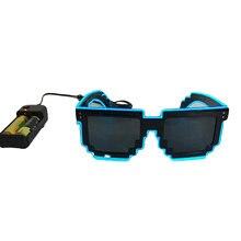 Светящийся светильник шоу солнцезащитные очки unnisex Хэллоуин