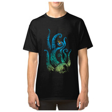 Undersea Attack Tshirt 100% Cotton T Shirt Men Octopus Cthul