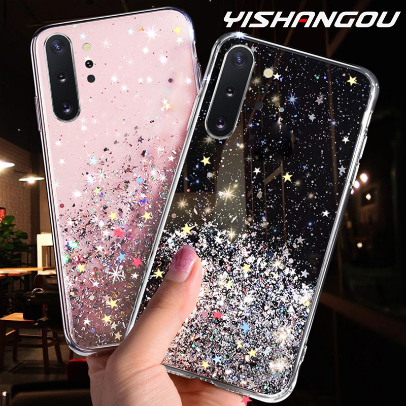Luxury Glitter Star Case For Samsung Galaxy A70 A50 A10 A20 A30 A60 A80 A90 A10S A20E A750 Note 10 9 8 S10 S9 S8 Plus S10E Cover image