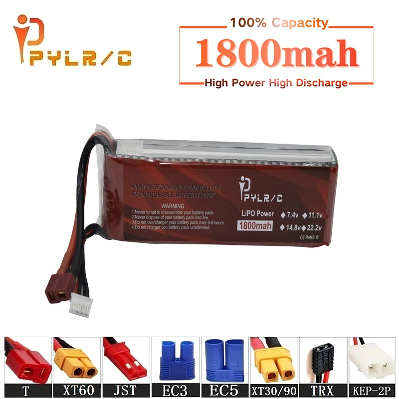 High Rate 11.1v 1800mAh Lipo Battery For RC Helicopter Parts 3s Lithium battery 11.1v 45C RC Cars Airplanes Drone Battery T/XT60(China)