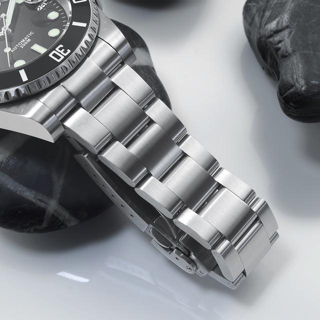 San Martin Diver Water Ghost Luxury Sapphire Crystal Men Automatic Mechanical Watches Ceramic Bezel 20Bar Luminous Date Window 5