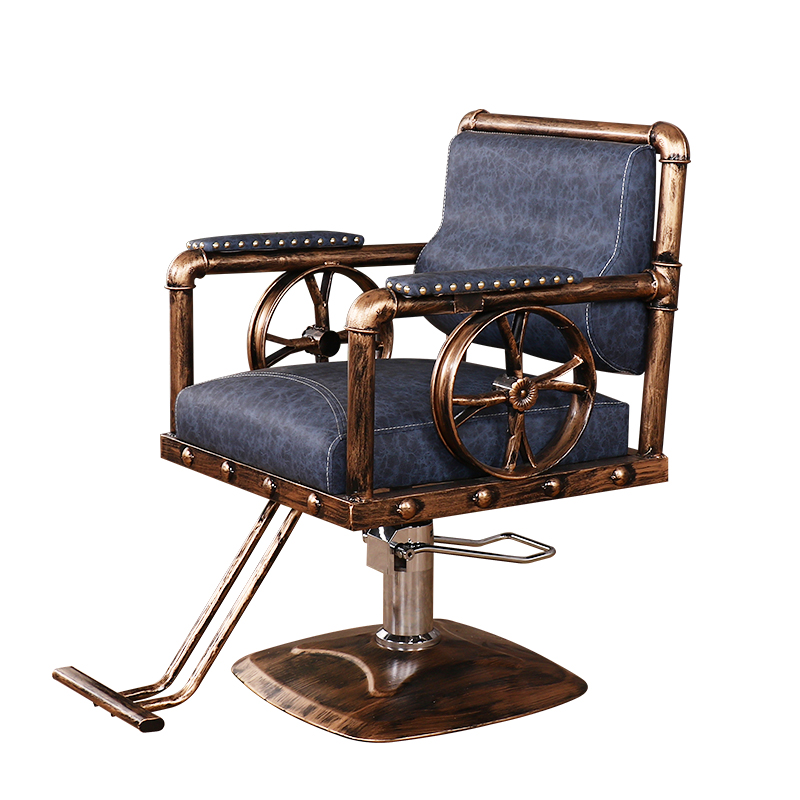 Barber's chair retro iron hairdressing chair hairdressing chair haircut chair special hair salon chair|  - title=