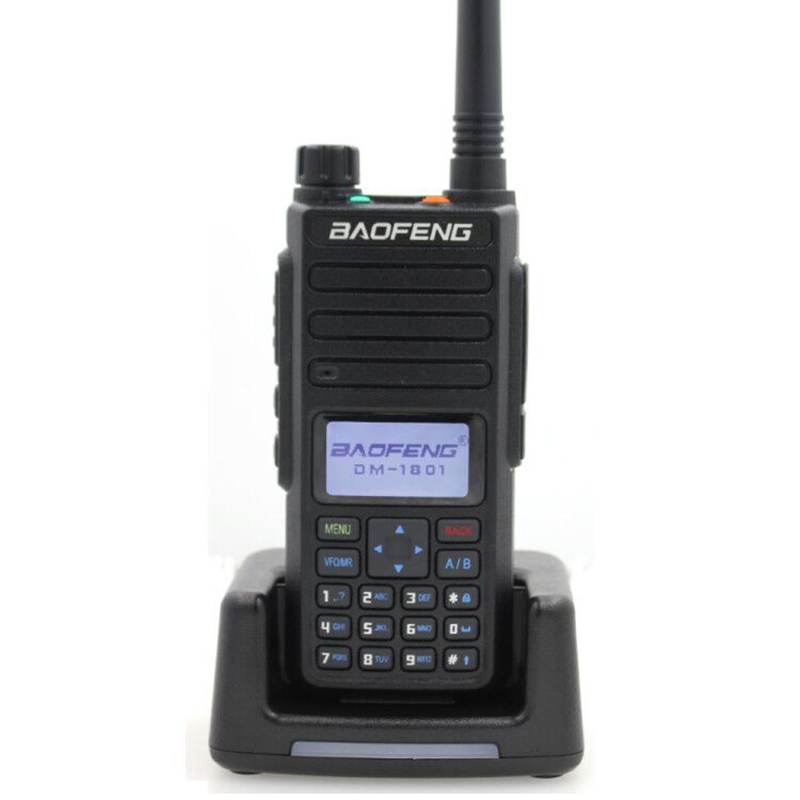 2019 Baofeng DMR DM-1801 Walkie Talkie VHF UHF 136-174 & 400-470MHz Dual Band Dual Time Slot Tier 1&2 Digital Radio DM1801