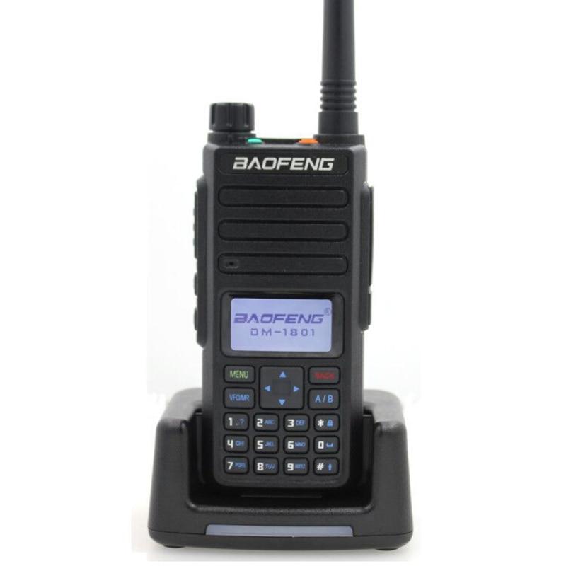2019 Baofeng DMR DM-1801 Walkie Talkie VHF UHF 136-174 & 400-470MHz Dual Band Dual Time Slot Tier 1&2 Digital Radio DM1801