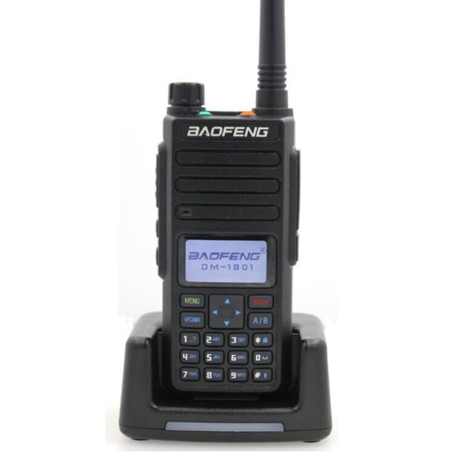 2020 Baofeng DMR DM 1801 ווקי טוקי VHF UHF 136 174 & 400 470MHz Dual Band Dual זמן חריץ Tier 1 & 2 דיגיטלי רדיו DM1801