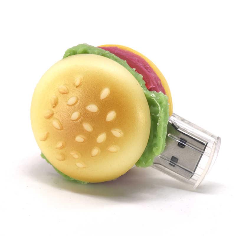 Żywności pendrive 4GB 8GB 16GB 32GB 64GB USB flash 128GB 256GB U kij burger smażone taśmy pizza pamięci usb sushi pen drive