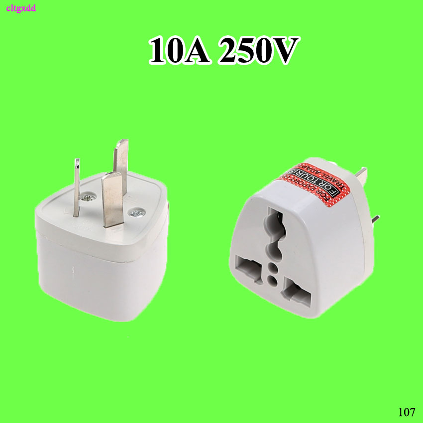 Cltgxdd 1pcs Travel Converter Adapter USA Australian Standard 3 Pin Chinese AC Power Plug Adaptor KY-16 10A 250V