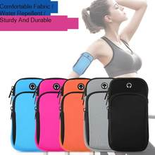 Bolso de brazo para correr para hombre y mujer, bolsa con orificio para auriculares, para teléfono, llaves, deportes al aire libre, iphone 11 pro max