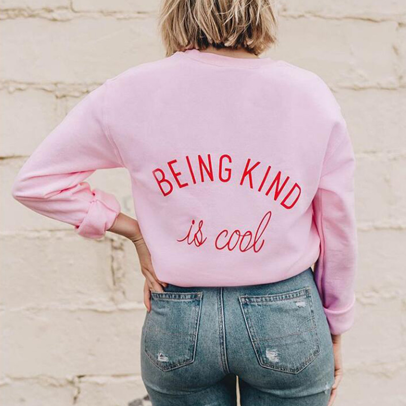 Being Kind is Cool Sweatshirt Treat People With Kindness Pullover Large Size Top