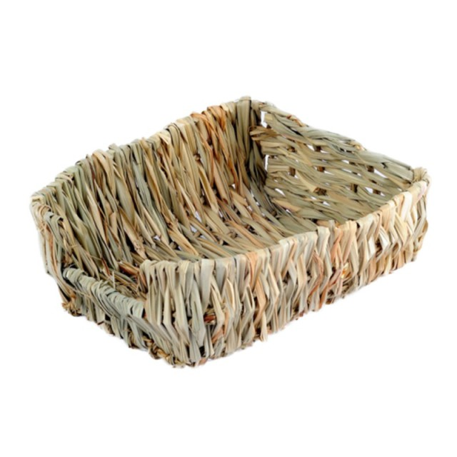 23*18*8.5cm Natural Bed and Grass Nest for Guinea Pigs Chinchillas and Rabbits Small Pets Hamster Chew Toys Mice Bed 1