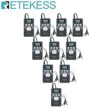 10 pçs retekess pr13 rádio fm estéreo dsp portátil receptor de rádio digital relógio para orientação igreja conferência treinamento