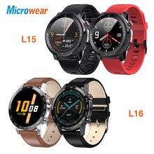 Relógio inteligente Microwear L15 masculino IP68 à prova d'água smartWatch ECG PPG Pressão arterial Ritmo cardíaco esporte fitness Smartwatch