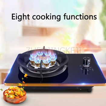 Gas Stove Monocular Embedded Desktop Liquefied Gas Natural Gas Tempered Glass Energy Saving Home Fierce Fire Cooking Kitchenware