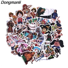 PC46 50pcs ONE PIECE Scrapbooking Stickers Decal For for Guitar Laptop Luggage Car Fridge Graffiti Sticker