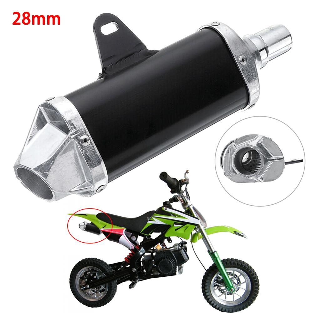 1x 28mm Universal Motorcycle Pit Dirt Bike <font><b>Exhaust</b></font> Muffler <font><b>Pipe</b></font> 50cc <font><b>110cc</b></font> 125cc New For Honda For Harley For Yamaha For Suzuki image