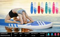 Inflatable Paddle Boards Stand Up 10.5'x30 X6 ISUP Surf Control Non Slip Deck Standing Boat Water Sport Sup Board Blue