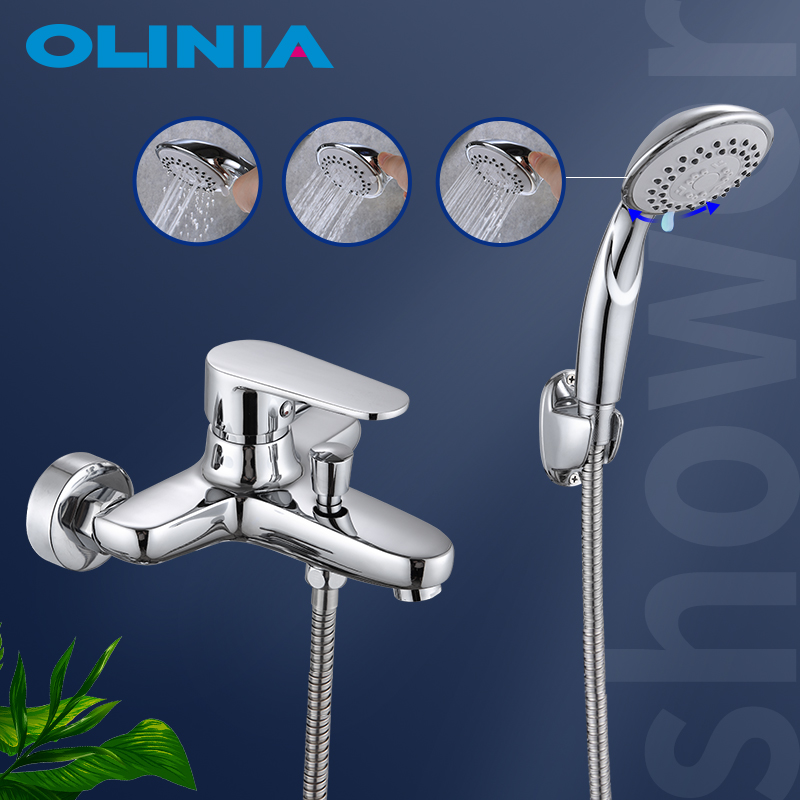 Olinia dusche system dusche kopf bad mischer dusche mischer bad wasserhahn mit dusche wasserhahn bad kalt-und warmwasser mischer OL8096
