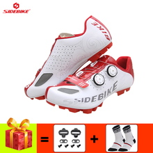 SIDEBIKE cycling sneakers men mountain bike shoes breathable self-locking Non-slip Wear-resistant Athletic riding bicycle shoes sidebike men mountain bike shoes cycling road bicycle mtb shoes breathable wear resistant self locking cycling sneakers white