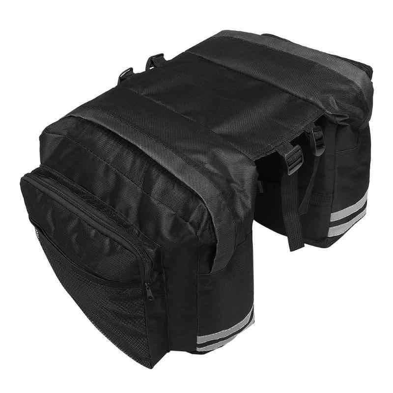 Saco de portador de bicicleta rack traseiro da bicicleta tronco saco de bagagem pannier assento traseiro duplo lado ciclismo saco bycicle