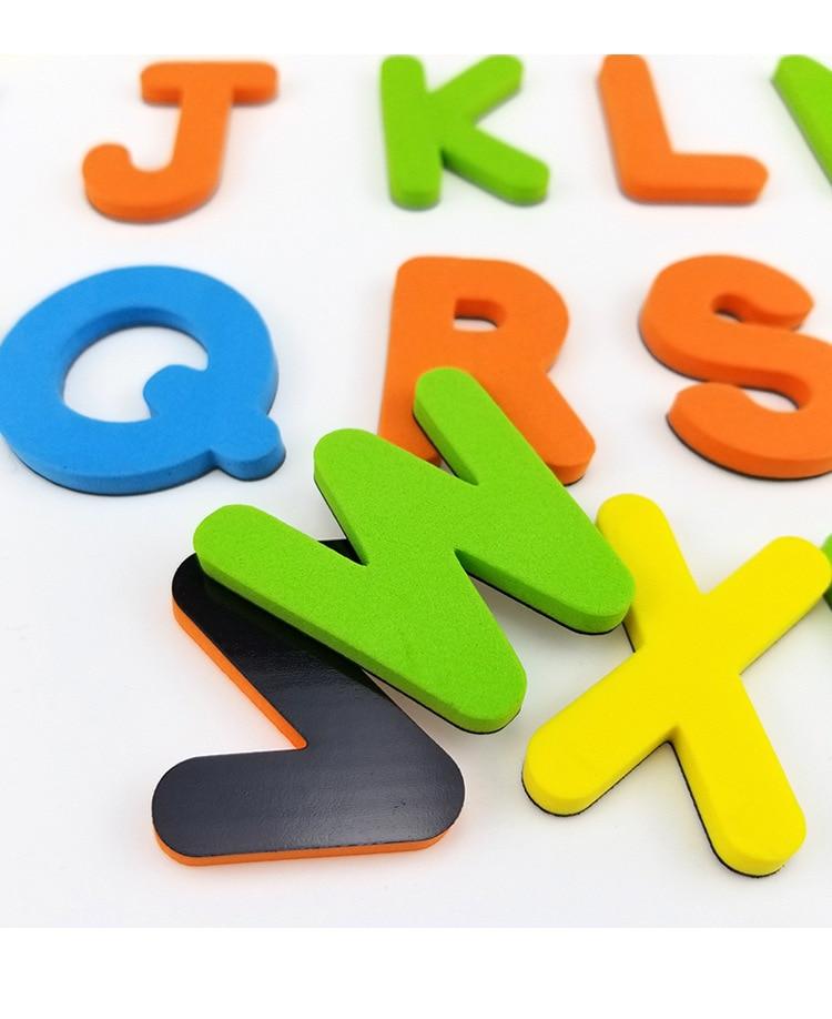 alfabetos educativos conjunto com placa ímã para