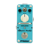 AROMA Ocean Verb Guitar Pedal Digital Reverb Effect Processsor 3 Modes True Bypass Full Metal Electric Guitar Parts Accessories