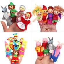 Детский мультяшный кинотеатр, для ролевых игр, пальчиковые куклы, три свиньи, замок русалки, принцесса, история рассказов, развивающие игруш...