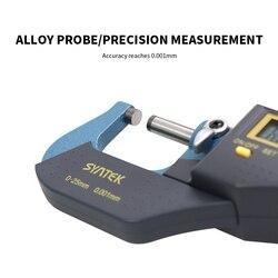 Na zewnątrz suwmiarka mikrometr Gauge narzędzia pomiarowe najtańsza cena 0.001mm cyfrowy mikrometr 0 25mm elektroniczny mikrometr zewnętrzny w Mikrometry od Narzędzia na