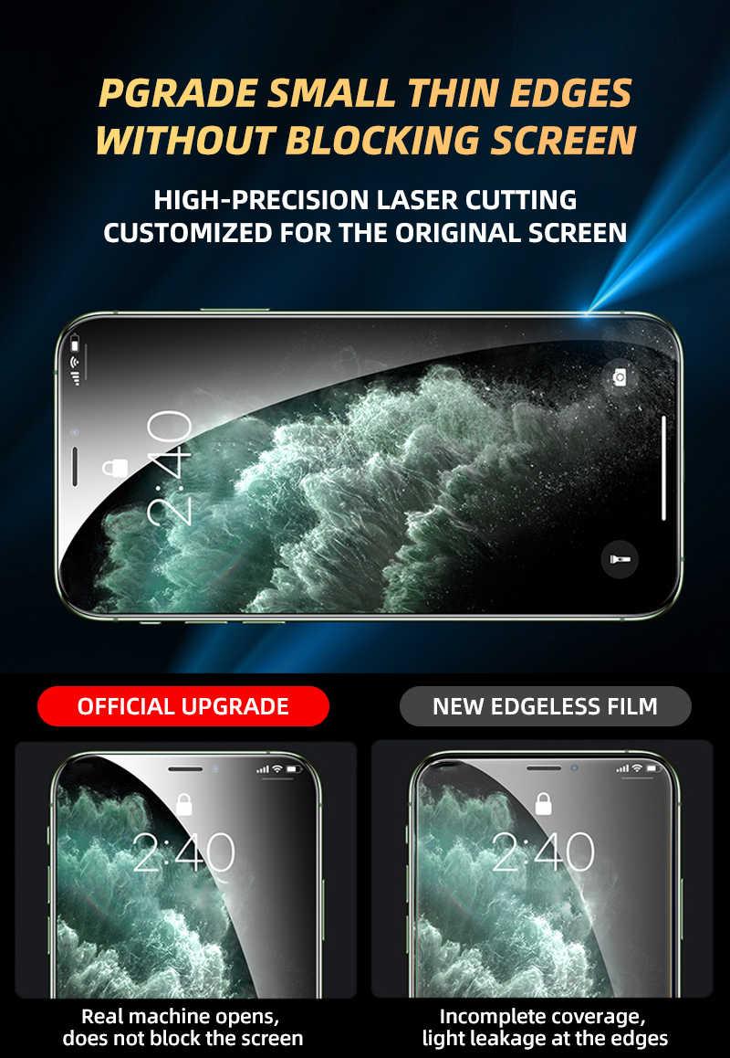 2 Chiếc 550D Full Kính Cường Lực Cho iPhone 11 Pro SE 2020 Kính X XS Max XR Tấm Kính Bảo Vệ Màn Hình trên iPhone 6 6 S 7 8 Plus Bộ Phim