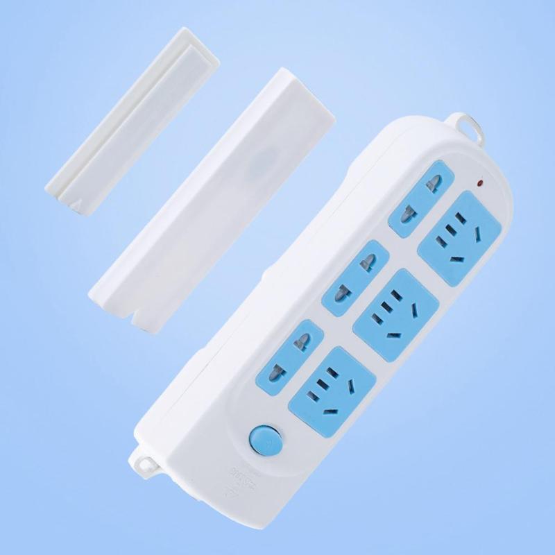 Seamless Punch-free Magic Plug Strip Fix Sticker Holder Power Strip Sticky Rack❤