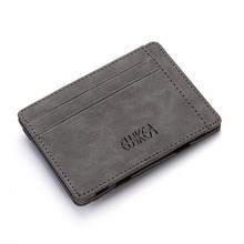 Frosted PU Creative Magic Wallet Flip Card Case Card Case Coin Purse Zipper Men's Wallet pu card case