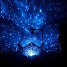 Proyector de luz nocturna de cielo estrellado para niños, lámpara giratoria de noche para dormitorio, proyección de constelaciones, planetario para el hogar, 3 colores