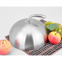 Lightweight Stainless Steel Cloche Food Cover Dome Serving Plate Dish Dining Dinner for Home Kitchen Resturant Cafe Use