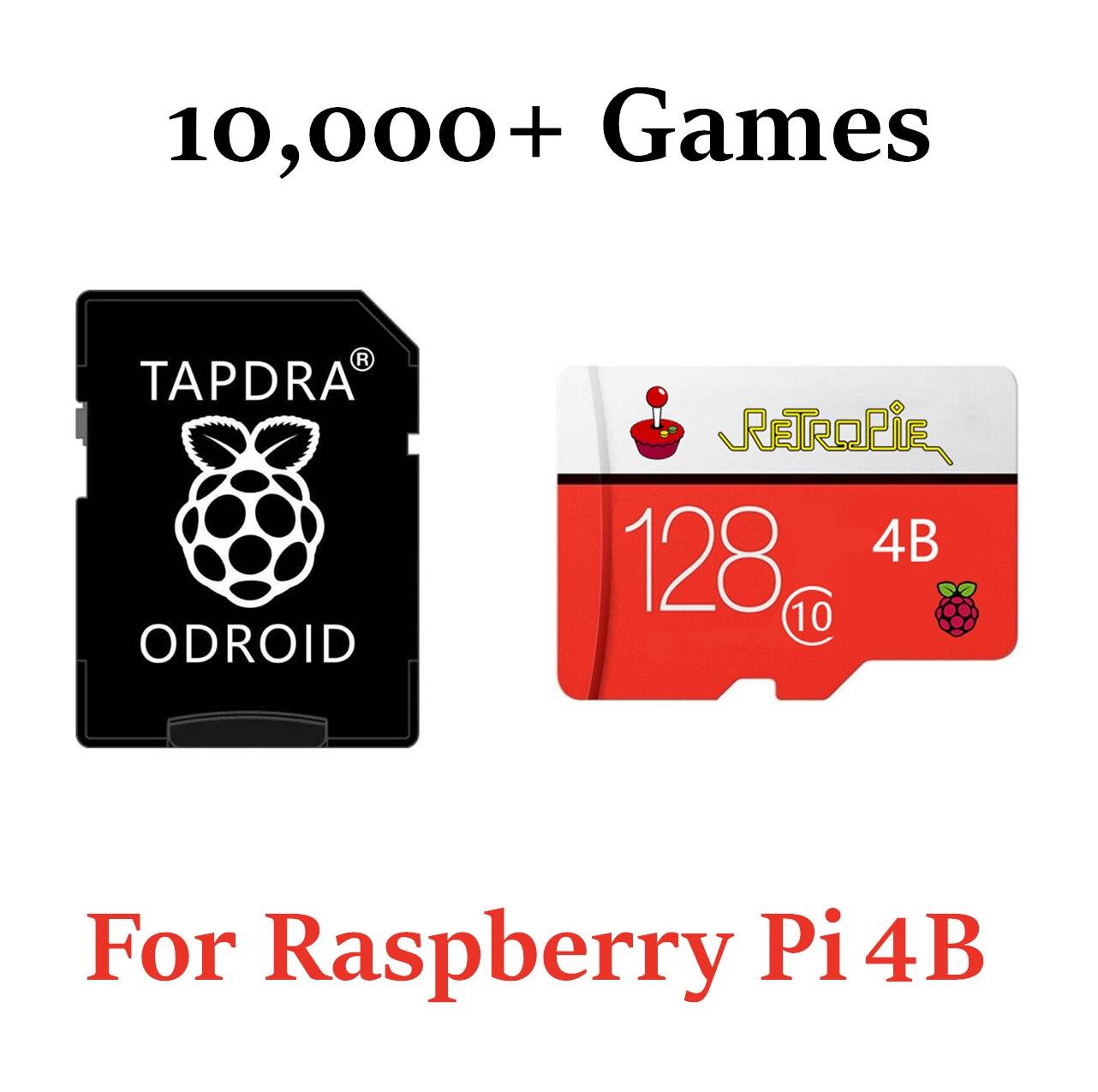 Retropie Micro SD карта 128 ГБ для Raspberry Pi 4 10000 + Ретро игры 45 + эмуляторы предварительно загруженные Diy эмуляционная станция ES