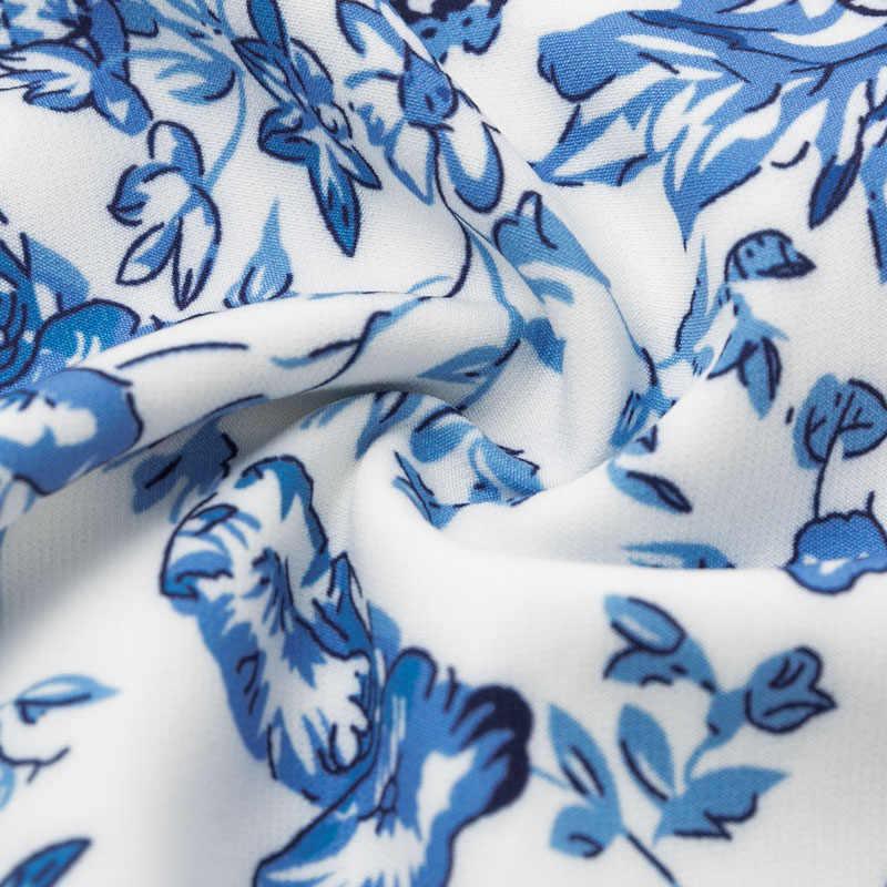 Sukienka z długimi rękawami Aartiee Puff mini kwiatowa sukienka z krótkimi rękawami kwadratowy kołnierzyk do klubu na imprezę bodycon 2019 sukienka zimowa damska elegancka