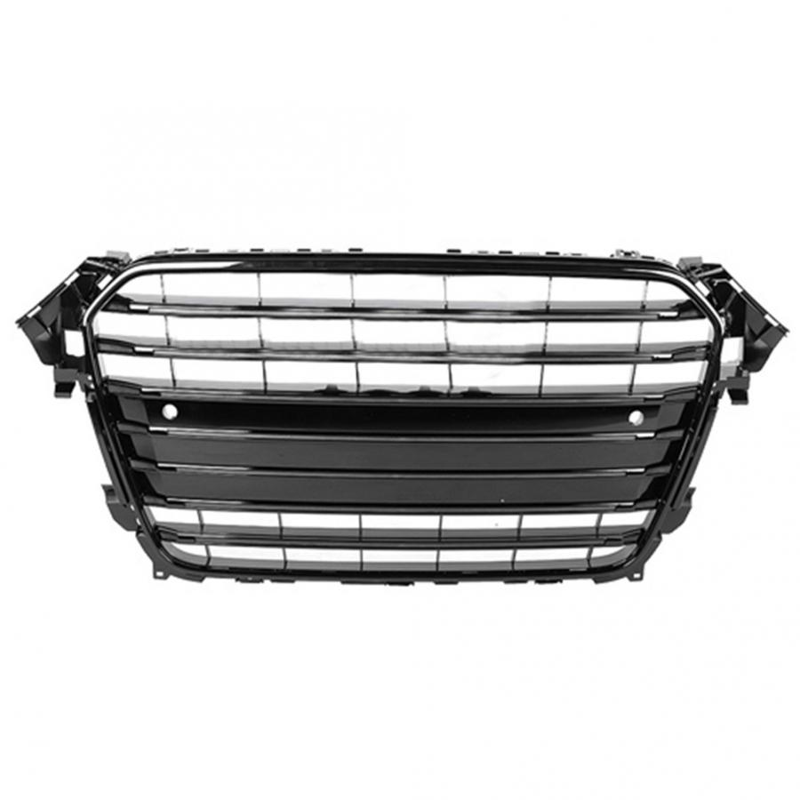 Image 2 - For S4 Style Car Front Bumper Mesh Grille Grill for Audi A4/S4 B8.5 2013 2014 2015 2016 ABS Black Car AccessoriesRacing Grills   -