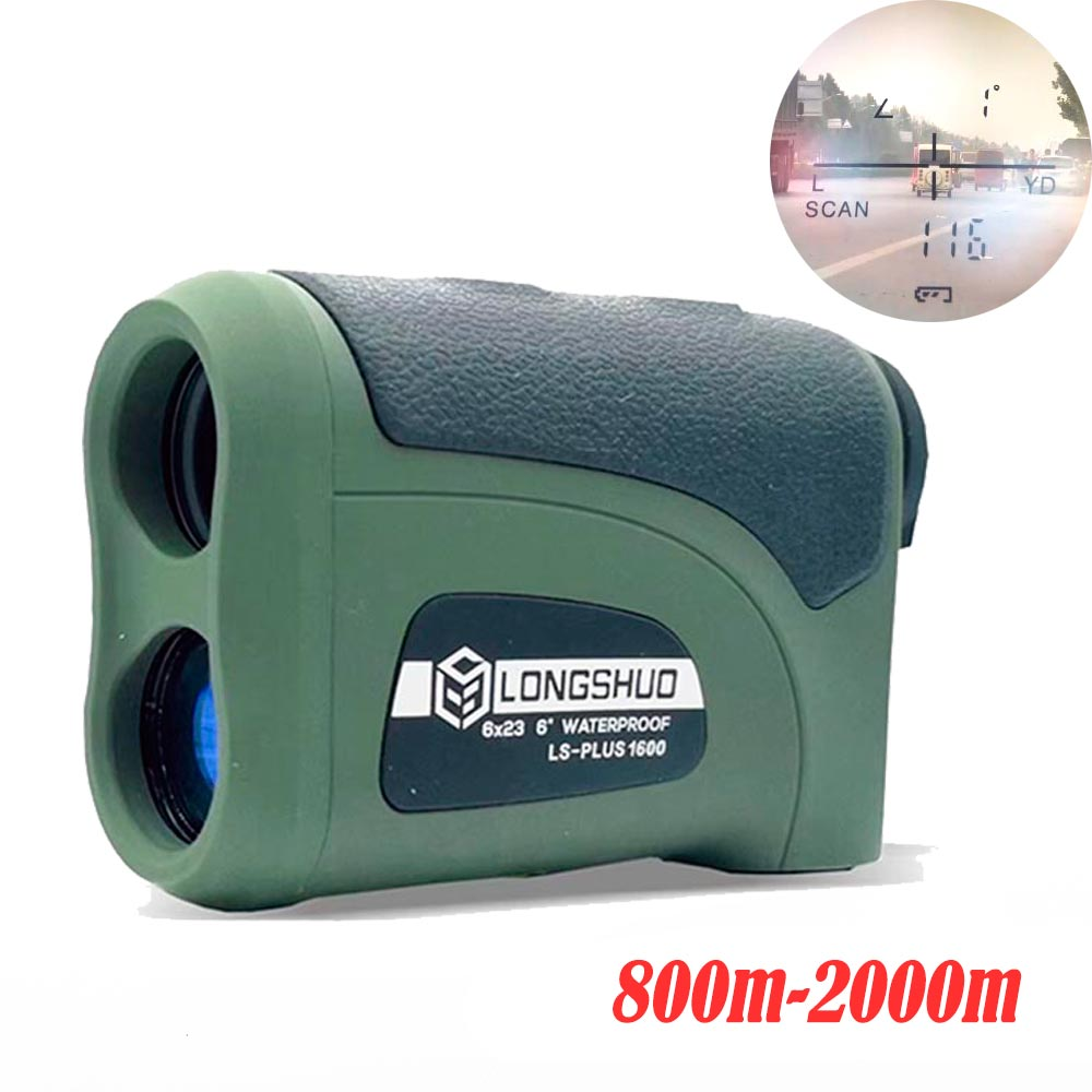 800M-2000M Waterproof and Battery Powered Laser Rangefinder with LCD Display 4