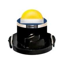 100個T3 T4.2 T4.7 creeチップled電球車のダッシュボードの警告インジケータライト計器クラスタランプ白、赤、青黄緑